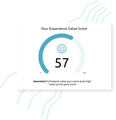 The experienced value of your participant in one metric