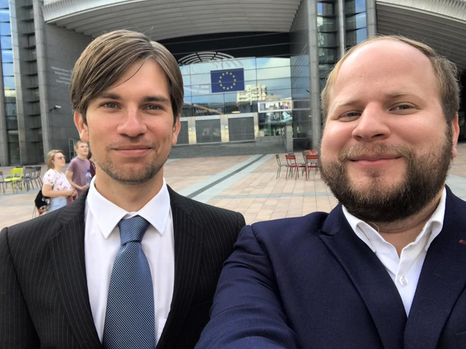 Utanför EU-parlamentet