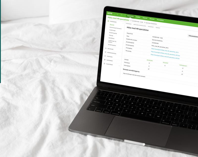 Lyyti hjälper dig att få ut mer av dina onlineevent och webbinarier