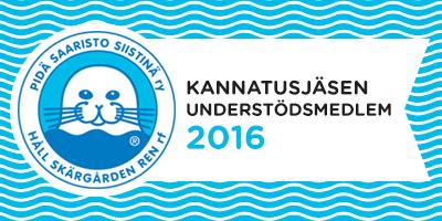 Pidä Saaristo Siistinä ry Kannatusjäsen 2016